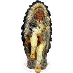 Indián törzsfőnök szobor
