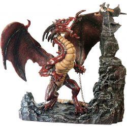 Leláncolt sárkány szobor