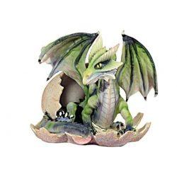 Színes sárkány dísz tojásban