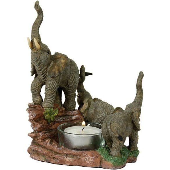 Elefánt mécsestartó