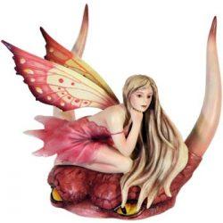 Dragon Fae Pink tündér szobor