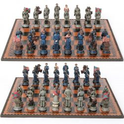Amerikai polgárháborús sakk készlet / tábla nélkül