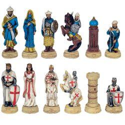 Keresztes lovag és Török sakkfigura készlet