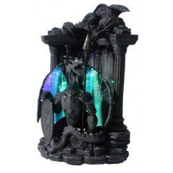 Világító sárkány szobor tükörrel