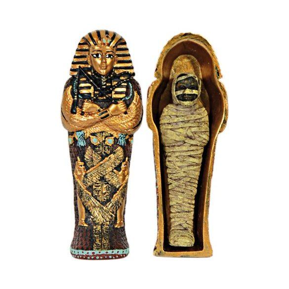 Egyiptomi Szobor Szarkofág Múmiával
