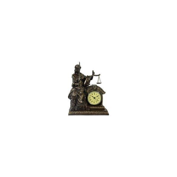 Justitia /Jusztícia szobor órával