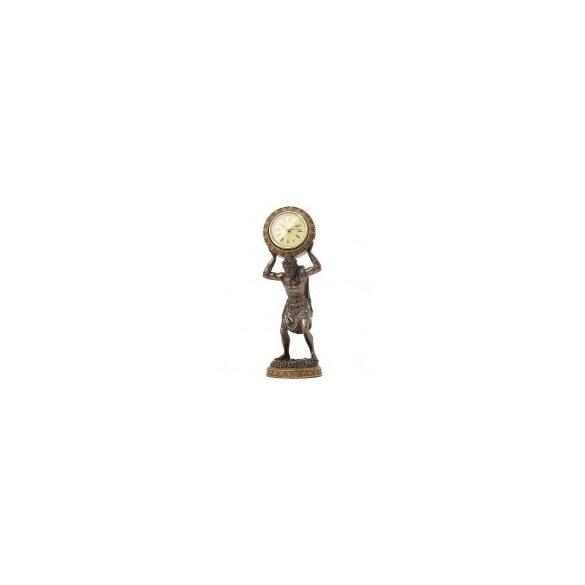 Atlasz szobor órával