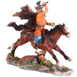 Viking lovas szobor