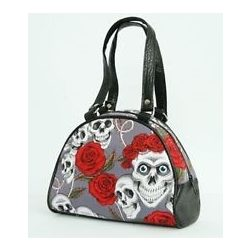 Skull and Roses small hand bag