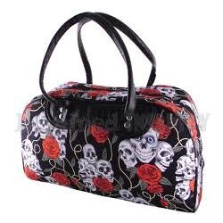 Koponyás rózsás nagy táska