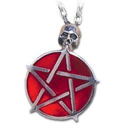 Vörös pentagramma nyaklánc