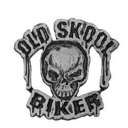 Old Skool Biker kitűző