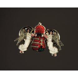 Magyar címer angyalokkal jelvény