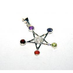 Kristályos pentagramma medál