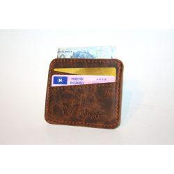 Bőr pénztárca- és igazolványtartó