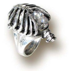 Drágakő ketrec gyűrű