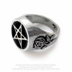Rózsa pentagram gyűrű