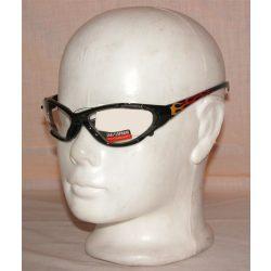 Lángnyelves átlátszó szemüveg