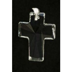 Katolikus Kereszt Swarovski kristály medál