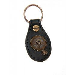 SteamPunk sítusú bőr kulcstartó