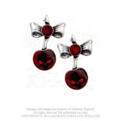 Black cherry fülbevaló/pár