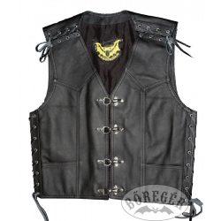 Man leather vest