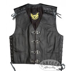 Man leather vest