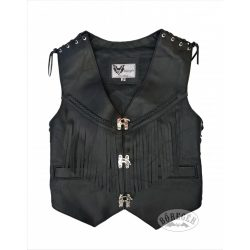 Women leather vest