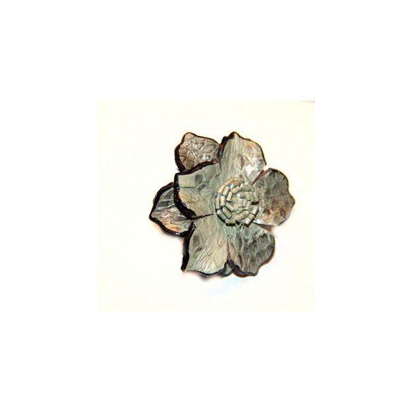Kígyóbőr virág gyűrű