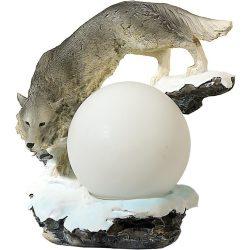Farkas szobor (figura, térplasztika)(canis lupus) lámpa /NINCS HOZZÁ BÚRA/