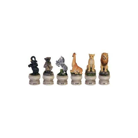 Állatos sakkfigura készlet