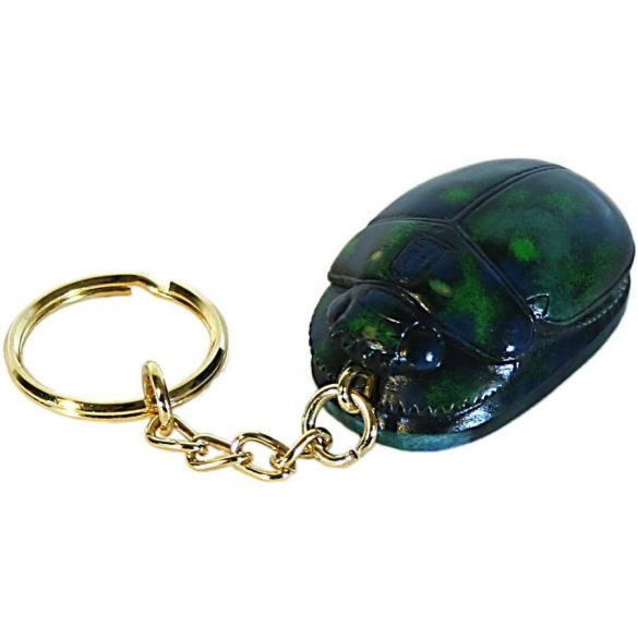 Scarabeus/szkarabeusz kulcstartó zöld